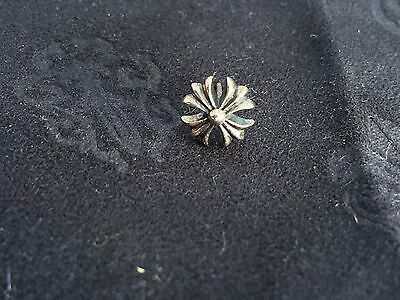 Perfect Chrome Hearts 925 sterling silver 9mm cross earring