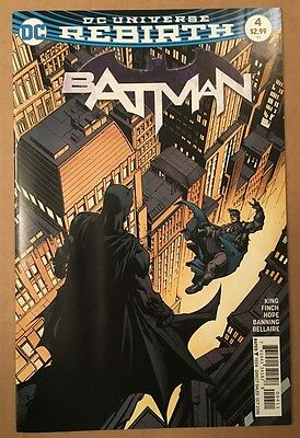 Batman #4 First Print Dc Comics Rebirth New Unread