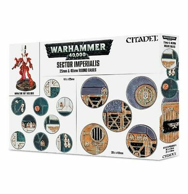 Warhammer 40k - Sector Imperialis - 25mm & 40mm Round Bases - BNIB Free Shipping
