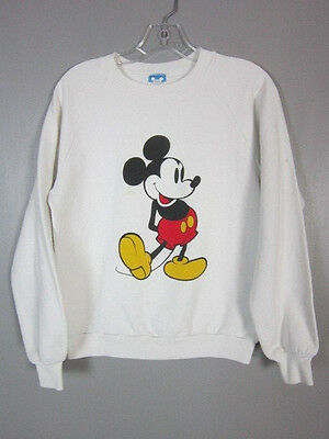 vintage 80s disney mickey mouse 50/50 sweatshirt adult medium
