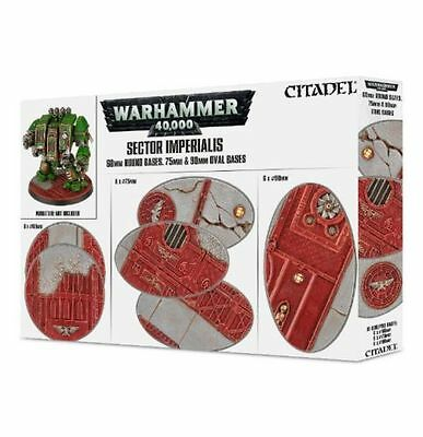 Sector Imperialis - 60mm Round Bases 75mm & 90mm Oval Bases - BNIB Free Shipping