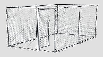 Chain Link Dog Kennel Outdoor Fence Backyard Large Pet Cage Pen Run Galvanized