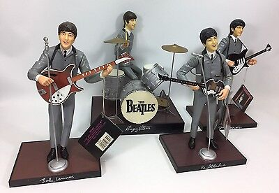 The Beatles 1991 Apple Corps Hamilton Limited Edition Figurine Set of 4-As Is
