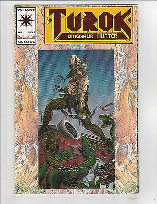 Turok, Dinosaur Hunter (1993) #1 NM- 9.2 Valiant Comics Bart Sears,Chrome Cover