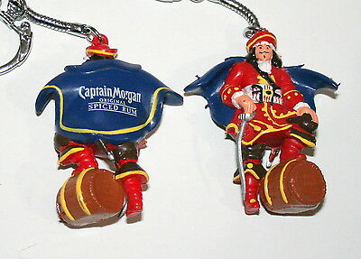 Captain Morgan Original Spiced Rum Ad Promo Figural Key Chain New NOS Bag