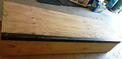 SKATEBOARD/SCOOTER GRIND BOX LEDGE WITH RAIL 1800 x 610 x 320 (6ft long) Timber