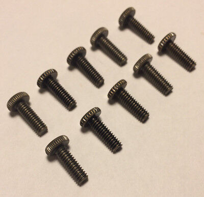 "New Lot Of 10 Steel 1/2"" Long Antique Brass Finish Thumbhead Screws 8/32 Thread"