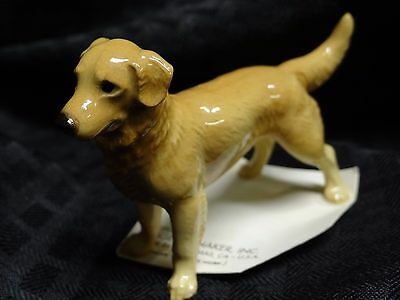 1995 Hagen-Renaker GOLDEN RETRIEVER - Miniature Ceramic Dog Figurine on Card