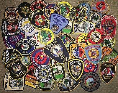Huge Lot of Police Fire Dept / Rescue and Security Patches -  Over 45  - All New