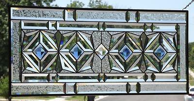 """**HEART OF THE OCEAN**Stained Glass Window Panel • 34 ½""""-14 ½"""" (88x37cm)"""