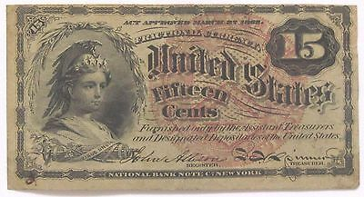 15 Cent Fourth Issue Fractional Currency with Large Seal - FR-1267