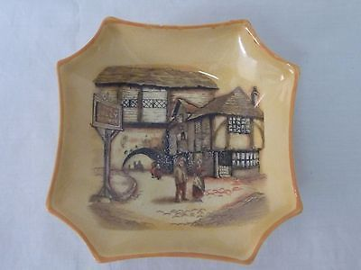 Lancaster & Sandland, The Jolly Drover Octagonal dish with orange edge