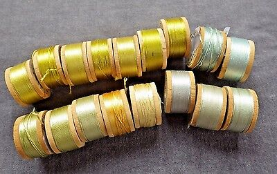 17 Spools BELDING CORTICELLI Silk Buttonhole Twist Thread, Probably Unused