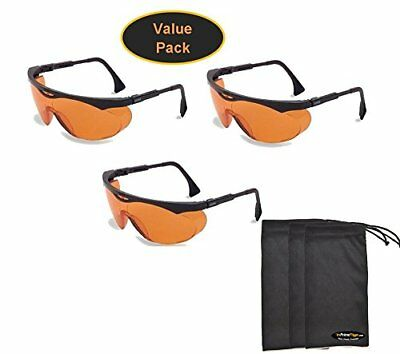 Uvex Skyper 3 pk Blue Light Blocking Computer Glasses SCT-Orange Lens Safety NEW