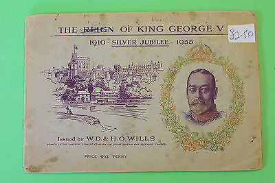 Vintage Cigarette Card Album Wills The Reign of King George V Full Set 1935 57