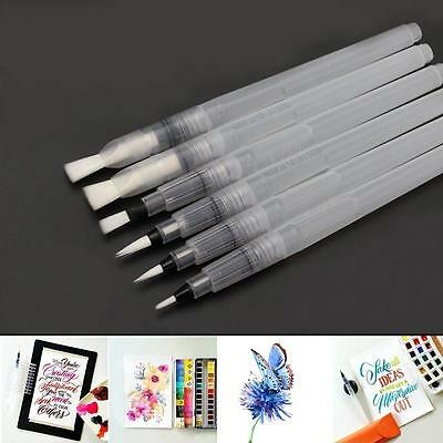 6 Pcs Water Color Capacity Soft Painting Brush Marker Watercolour Drawing Pens