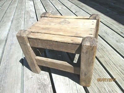 Wood Mortise & tenon Step Stool Bench Childs Farmhouse Wooden Looks Handmade
