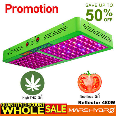 Mars Reflector 480W LED Grow Light Vollspektrum Blumen Gemüse Hydrokultur Licht