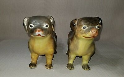 Interesting Pair of Antique Chinese Porcelain Dogs Nice LQQK