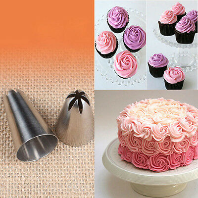 New Rose Flower Icing Piping Tips Nozzle Cake Cupcake Decorating Pastry Tool 1B