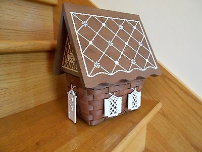 Longaberger Gingerbread House Basket Set Collectors Club New 09 *free shipping!*