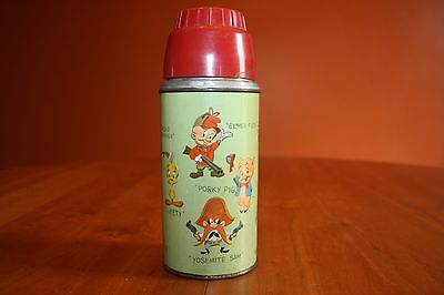 1959 Warner Brothers Looney Tunes Thermos for Lunchbox Complete Good Condition