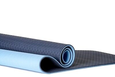 COACTIVE Athletics Premium TPE Yoga Mat  Extra thick (8mm) for comfort yet li...
