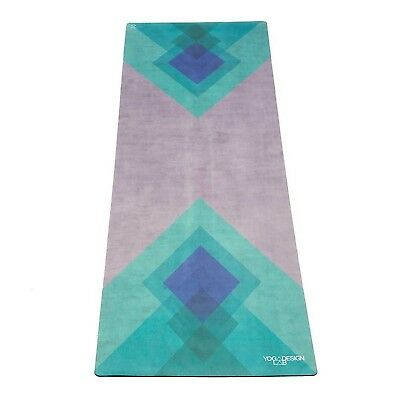 The Combo Yoga Mat. Luxurious Non-slip Mat/Towel Designed to Grip Better w/ S...