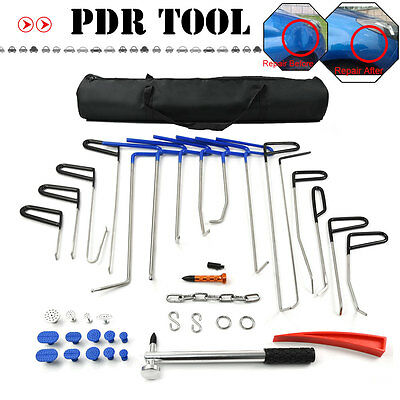 16pcs Rods PDR Whale Tail Rods Paintless Dent Repair Hail Removal Repair Hammer