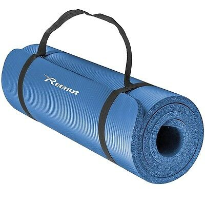 Reehut 1/2-Inch Extra Thick High Density NBR Exercise Yoga Mat for Pilates Fi...