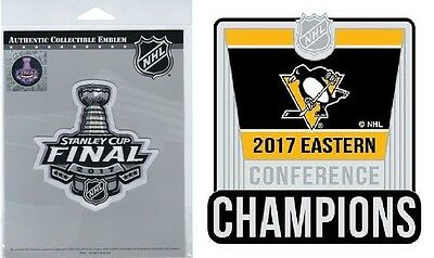 2017 Stanley Cup Final Patch With Pittsburgh Penguins Sticker  Set Of Two (2)