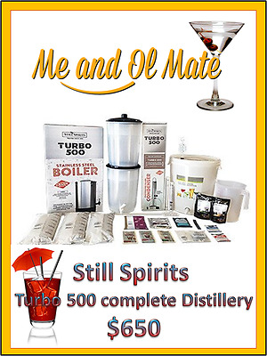 Still Spirits Turbo 500 T500 Complete Distillery & Boiler Kit Home Brew System