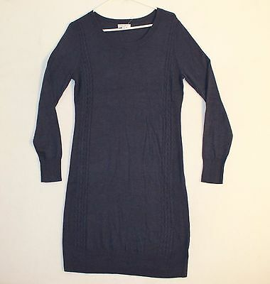 Liz Lang Maternity Tunic Knit Sweater Woman's Size L Color Dark Blue