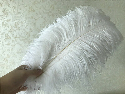 wholesale! 10-100pcs beautiful white ostrich feathers 6-30inch / 15-75cm