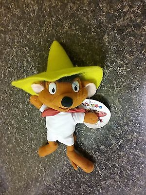 """Speedy Gonzales Plush 11"""" Looney Tunes Mexican Mouse Sylvester the Cat enemy"""