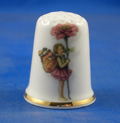 Birchcroft China Thimble -- Summer Fairy with Free Dome Gift Box