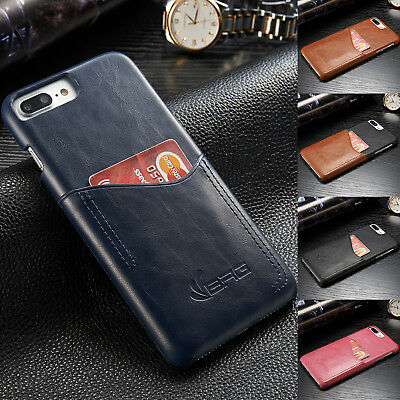 Magnetic Leather Protective Case Credit Card Holder Cover For iPhone 6s 7 Plus