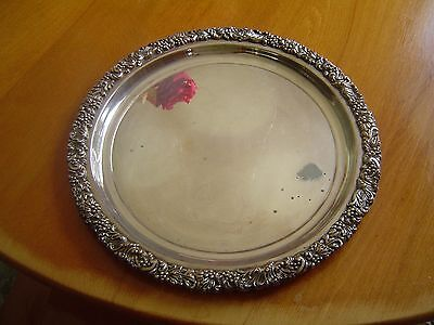 Traditional design  Silver plated Hecworth Reproduction Old Sheffield Tray