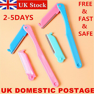 UK DELIVERY Eyebrow Razor Trimmer Facial Shaper Shaver Blade Knifes Hair Remover