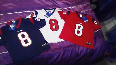 3 X AUTHENTIC REEBOK NFL HOUSTON TEXANS JERSEYS SHIRTS BNWTs GRIDIRON