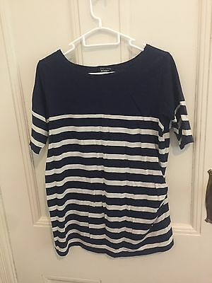 Maternity Top T-shirt Striped Size 10  - 12 NEW LOOK