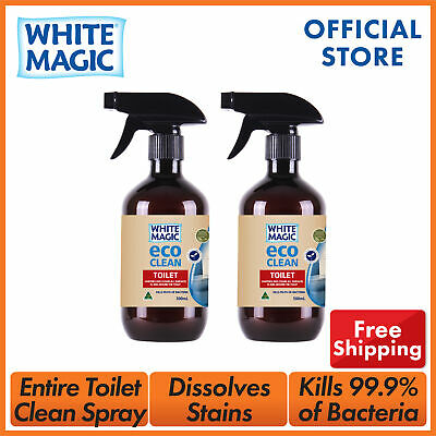 White Magic Eco Clean Toilet Spray Sanitise and Cleans Toilet Surface 500ml