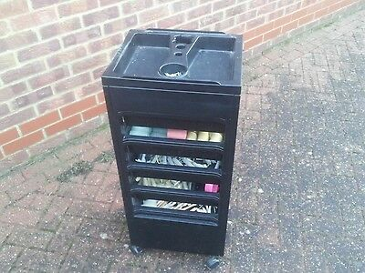 Hairdressing Trolley with Velcro and Perm Rollers - Professional Salon Equipment