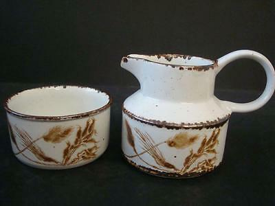 Midwinter Stonehenge Wild Oats Milk Jug & Sugar Bowl Look Unused