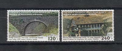 Architecture Armenia Karabkh 2016 MNH** Mi.127-28  Building Bridge