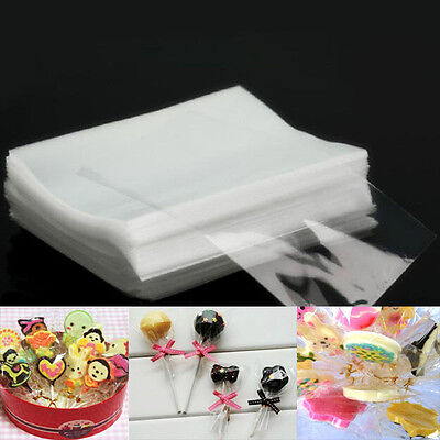 100pcs Clear Wrapping Bags For Chocolate Biscuit Lollipop Candy Cellophanes