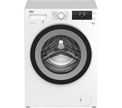 BEKO WDX8543130W Washer Dryer White 1400 rpm Spin speed A Energy rating