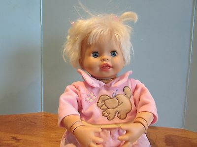 """Little Mommy Interactive  Doll 15"""" Fisher Price Real Loving Baby~Mattel 2006"""