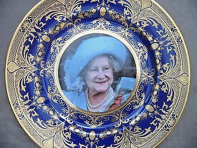 Caverswall Ltd Edit (53/500) Plate. The 100th Birthday of Queen Mother. Gilt...
