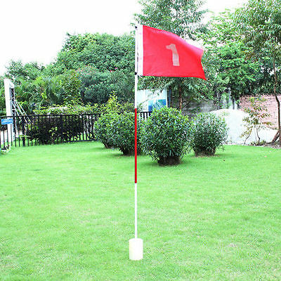 Golf Hole Pole Cup Flag Stick Putting Green Flagstick Backyard Practice TEE OFF